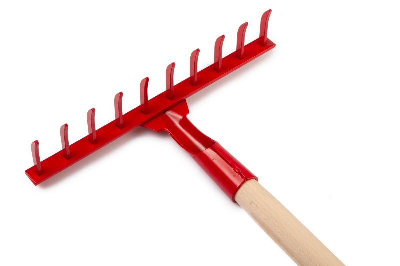 Профессиональные стальные грабли 10 зубьев